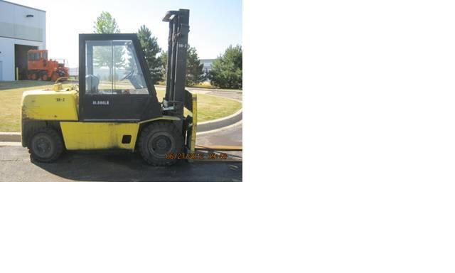 Hyster H100XL Pneumatic Propane Forklift 1998 10,000lbs @ 5 Ton