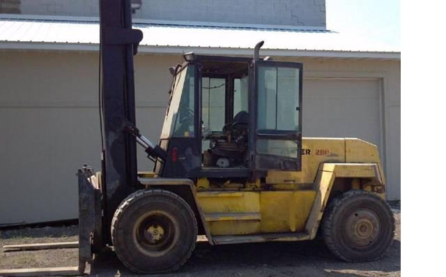 Hyster H280XL Diesel Forklift 1997 @ 14 Ton Pneumatic Tires