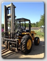 JCB 930 Rough Terrain Forklift 1999 Diesel 21′ Mast 6000lb
