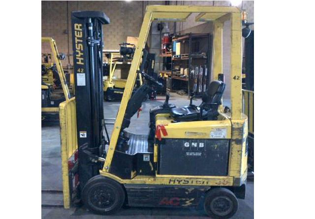 Hyster E35Z Electric Forklift 2007 4 Wheel Sit Down Rider 3500lbs