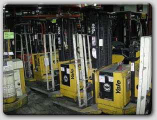 Yale MSW040LCN24TE077 4000lb Walkie Straddle Stacker Truck 2001