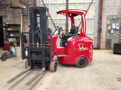 Flexi EC20 Very Narrow Aisle Side Loading Electric Forklift 2006 Quad Mast