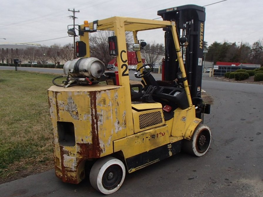 Hyster S120XM 12,000lb Propane Forklift With Paper Roll Clamp 2006