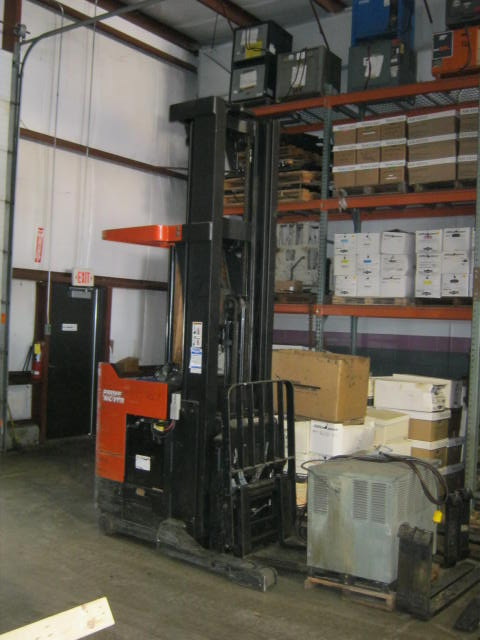 Prime Mover RRX45 4500lb Electric Rider Reach Forklift 2006