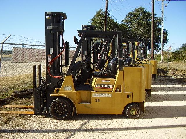 Caterpillar GC55K @ 6 Ton, 12,000lb Cushion Tire Propane Forklift 2005