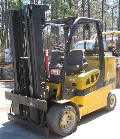 Yale GLC120 12,000lb @ 6 Ton Propane Cushion Tire Forklift 2008