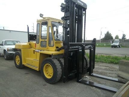 Caterpillar DP150 15 Ton 30000 pound Pneumatic Tire Diesel Forklift 1997