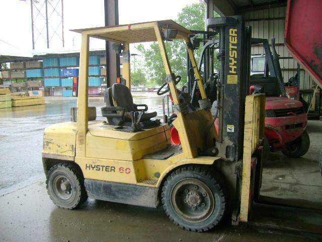 Hyster H60XM 6000lb 3 Ton Gasoline Pneumatic Tire Forklift 1996