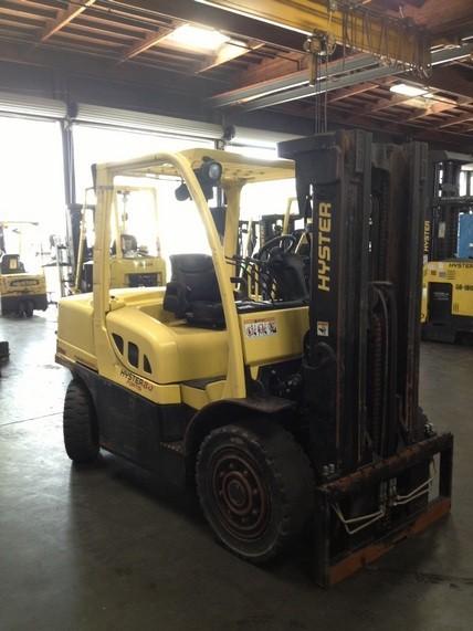 Hyster H80FT 8000lb Diesel Pneumatic Forklift 2008