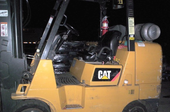 Caterpillar GC45K 5 Ton Solid Cushion Tire Propane Forklift 2007
