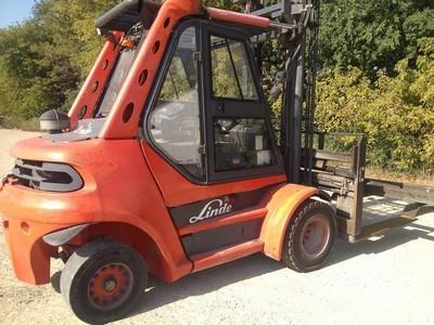 Linde H70D Diesel 7.5 Ton Pneumatc Tire Forklift 2006
