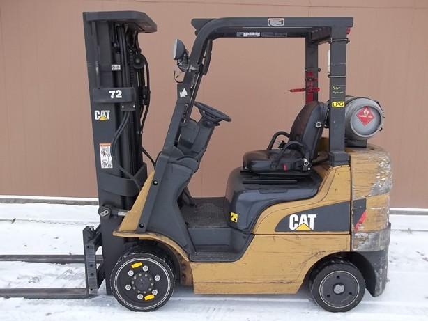 Caterpillar C5000 5000lb Cushion Tire Propane Forklift 2007