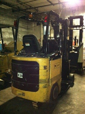 Bendi B30-42E180D 3000lb Very Narrow Aisle Articulating Electric Side Loading Forklift 2007