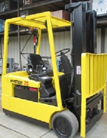 Hyster J35XMT2 3-Wheel Electric Sit Down Rider 3500lb Forklift 2004