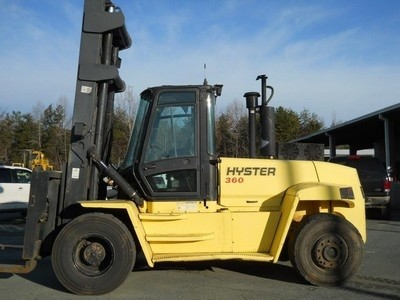 Hyster Forklifts H360HD 18 Ton Pneumatic Tire Diesel Forklift 2005