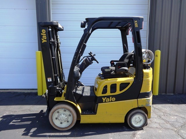 Yale Forklifts GLC050 5000lb Cushion Tire Propane Forklift 2008