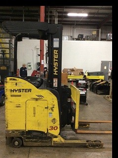 Hyster Forklifts N30ZDR Electric Rider 3000lb Double Reach Forklift 2010