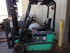 Mitsubishi Forklifts FB16NT 3-Wheel Sit Down Electric 3500lb Forklift 2012