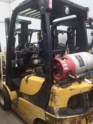 Yale Forklifts GLP030VXN 3000lb Pneumatic Tire Propane Forklift 2011