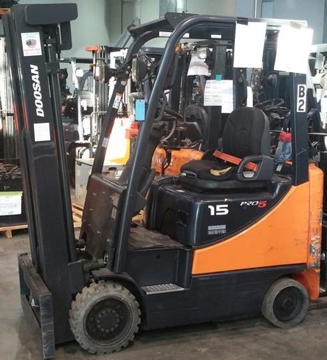 Doosan Forklifts GC15S-5 Sit Down Rider 3000lb Cushion Tire Propane Forklift 2012