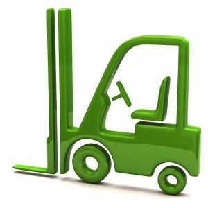 Green lift truck icon