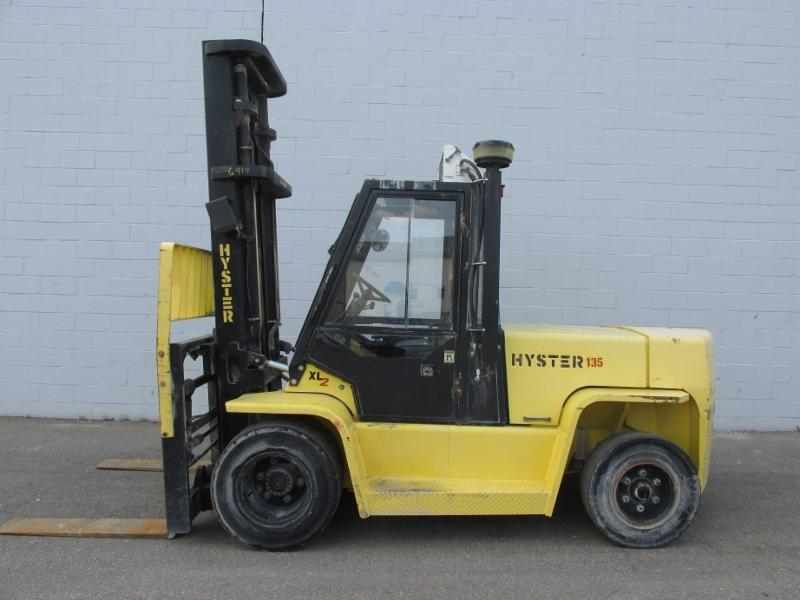 Hyster Forklifts H135XL2 6.5 Ton Pneumatic Tire Propane Forklift 2006