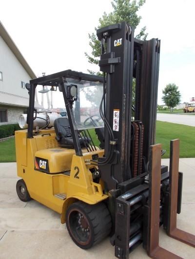 Caterpillar Forklifts GC55KS 6 Ton 12,000lb Cushion Tire Propane Forklift 2011