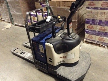 Crown Forklifts PE4500-60 6000lb Electric Walkie Rider Pallet Trucks 2007