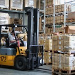 worklift in warehouse