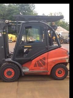 Linde Forkifts H40D Diesel 4.5 Ton Pneumatic Tire 9,000lb Forklift 2011