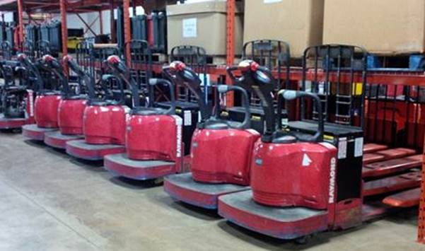 Raymond Forklifts 8400 Electric Walkie Rider Pallet Trucks 2008