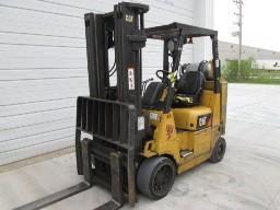 Caterpillar Forklifts GC40KSTR Propane Fuel 8000lb Solid Cushion Tire Short Turning Radius Forklift 2009