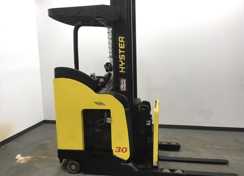 Hyster Forklifts N30ZDR Electric 3000lb Stand Up Rider Double Reach Forklift 2013