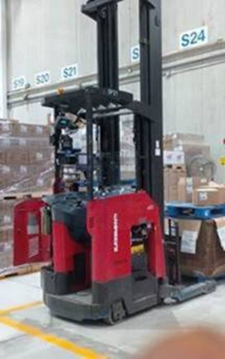 Raymond Forklifts 750DR32TT Electric Stand Up Rider 3200lb Double Reach Forklift 2012