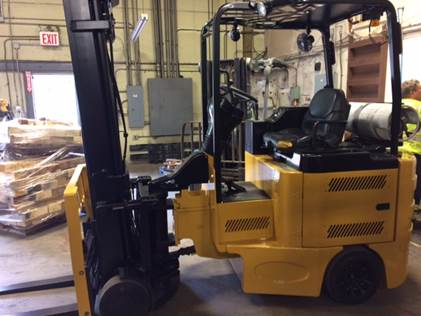 Bendi Forklifts B40IC 4000lb Very Narrow Aisle Articulating Side Loading Forklift 2011