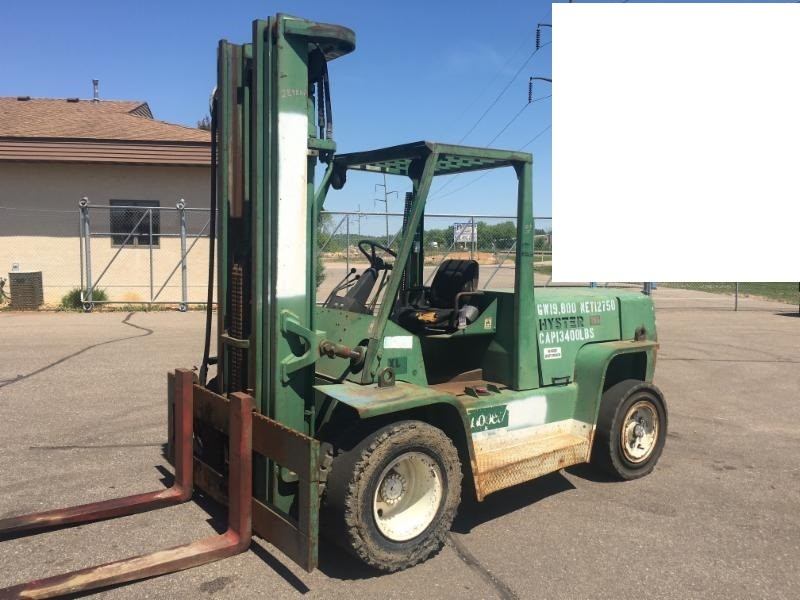 Hyster Forklifts H155XL 15,500lb Pneumatic Tire Diesel Forklift 1996