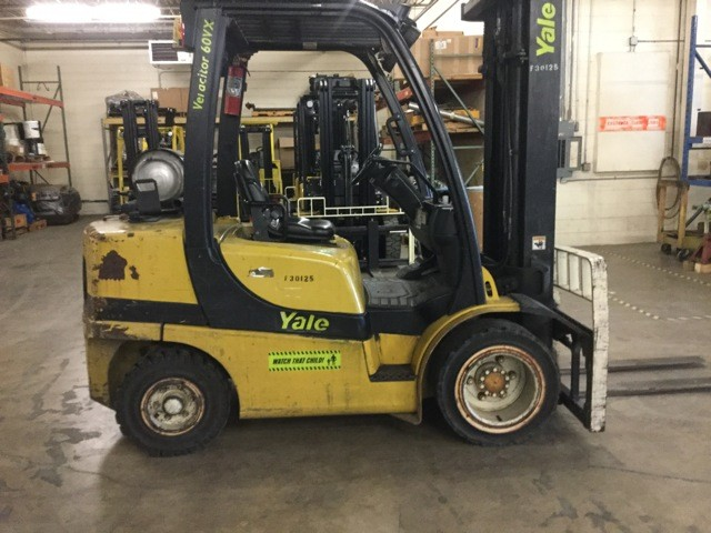 Yale Forklifts GLP060VX Propane Fuel Pneumatic Tire 6000lb Forklift 2007