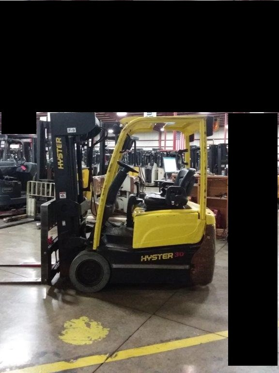 Hyster Forklifts J30XNT 3-Wheel Sit Down Rider Electric 3000lb Forklift 2014
