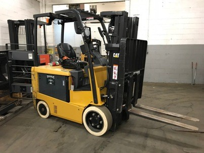 Caterpillar Forklifts EC30N2 EE Rated 6000lb Sit Down Rider Cushion Tire Forklift 2013