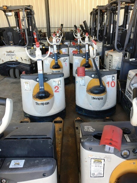 Crown Forklifts WP3035-45 Electric Walk Behind 4500lb Pallet Trucks 2014