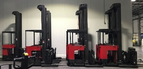 Raymond Forklifts EASI-DR30TT Electric Stand Up Rider 3000lb Double Reach Forklift 2004