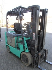 Mitsubishi Forklifts FBC25N Electric 5000lb 4 Wheel Sit Down Rider Forklift 2012