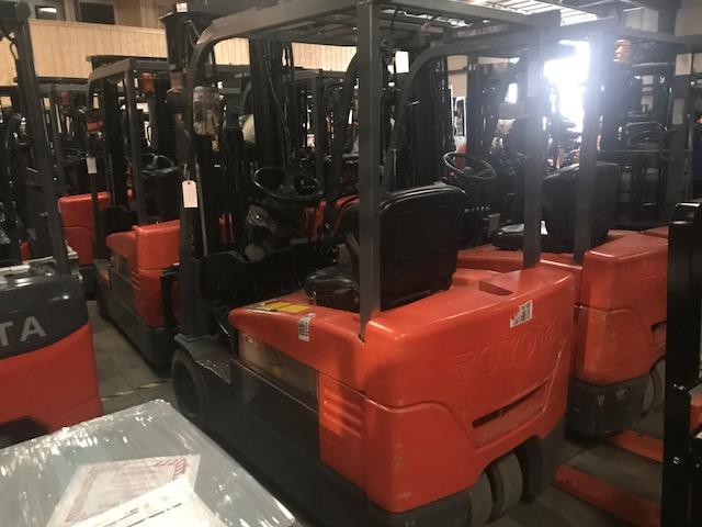 Toyota Forklifts 7FBEU20 3-Wheel Sit Down Rider 4000lb Electric Forklift 2012
