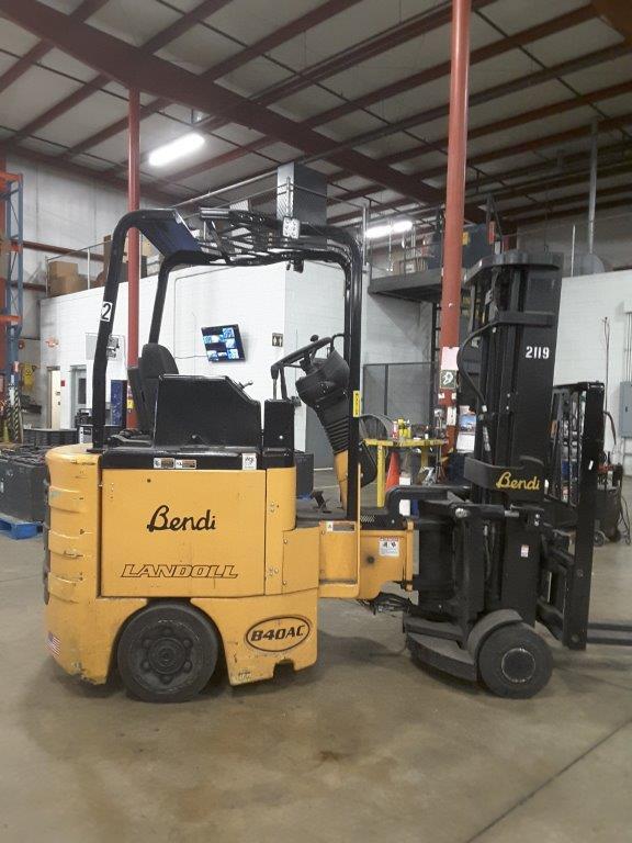 Bendi Forklifts B40/48E180D Very Narrow Aisle Articulating 4000lb Side Loading Forklift 2014