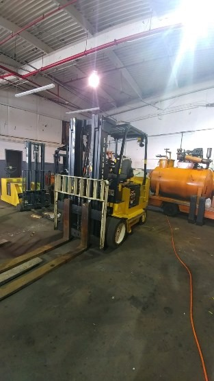 Yale Forklifts ERC100HHN36TE092 Electric 10,000lb 5 Ton Sit Down Rider 4 Wheel Forklift 2008