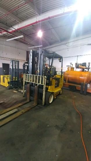 Yale Forklifts ERC100HHN36TE092 Electric 10,000lb 5 Ton Sit Down Rider 4 Wheel Forklift 2008