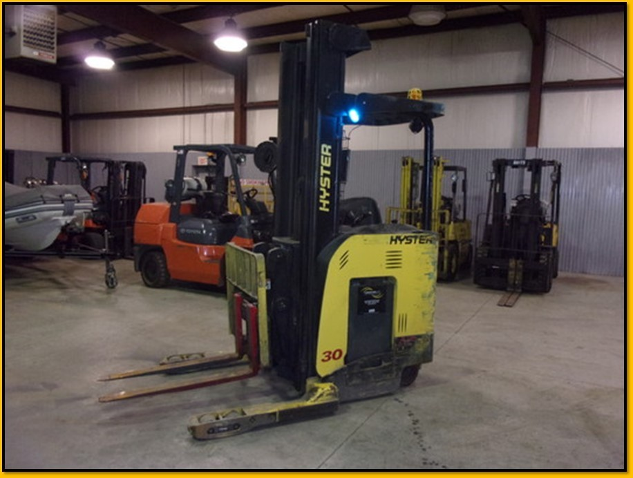 Hyster Forklifts N30ZDR Electric 3000lb Stand Up Rider Double Reach Forklift 2010
