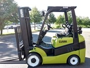 Clark Forklifts C25C 5000lb Cushion Solid Tire Propane Forklift 2014