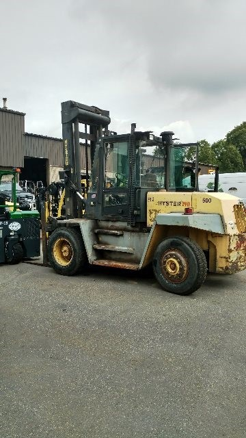 Hyster Forklifts H190XL2 Diesel Engine 9.5 Ton 19,000lb Pneumatic Tire Forklift 1997