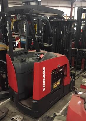 Raymond Forklifts 425-C50TT Stand Up Rider End Control 5000lb Electric Counter Balance Forklift 2011
